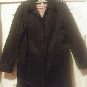 **MICHAEL Kors** classic black raincoat, size L